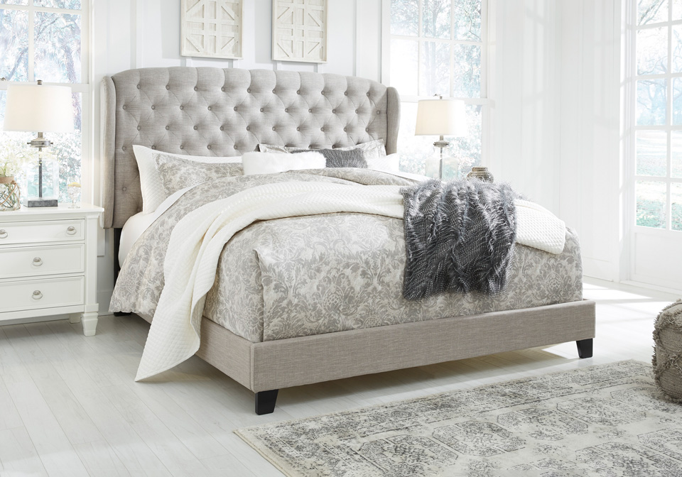 Jerary Gray King Upholstered Bed Cincinnati Overstock Warehouse