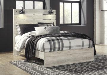 Cambeck Whitewash Queen Panel Bed Cincinnati Overstock