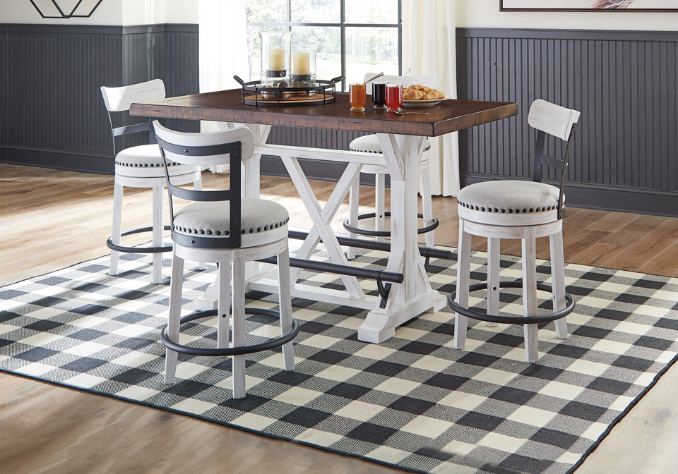 Two Tone 5pc Counter Height Dining Set, Bar Height Dining Room Table
