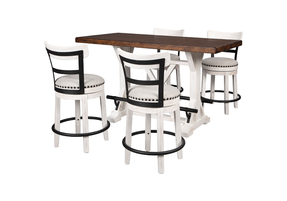 Valebeck Two Tone 5pc Counter Height Dining Set Cincinnati Overstock Warehouse