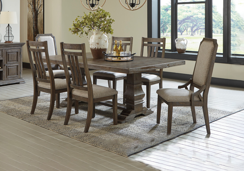 Wyndahl Rustic Brown Dining Room Table, Rustic Dining Room Table Sets