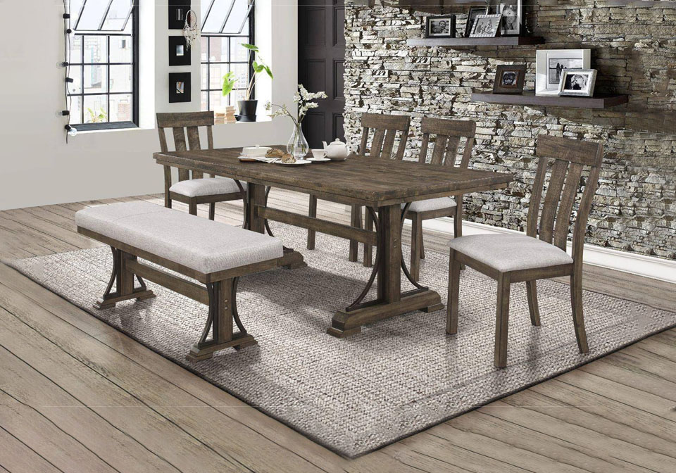 Quincy Brown Dining Room Set, Victorian Style Dining Room Set