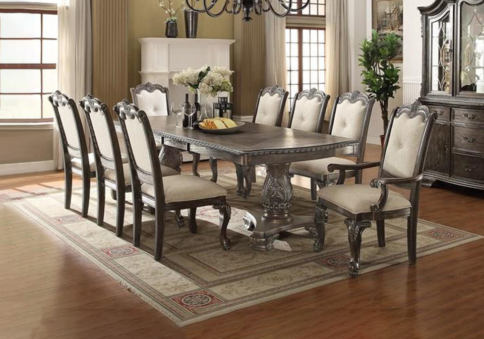 Kiera Gray 9pc Dining Set Cincinnati Overstock Warehouse