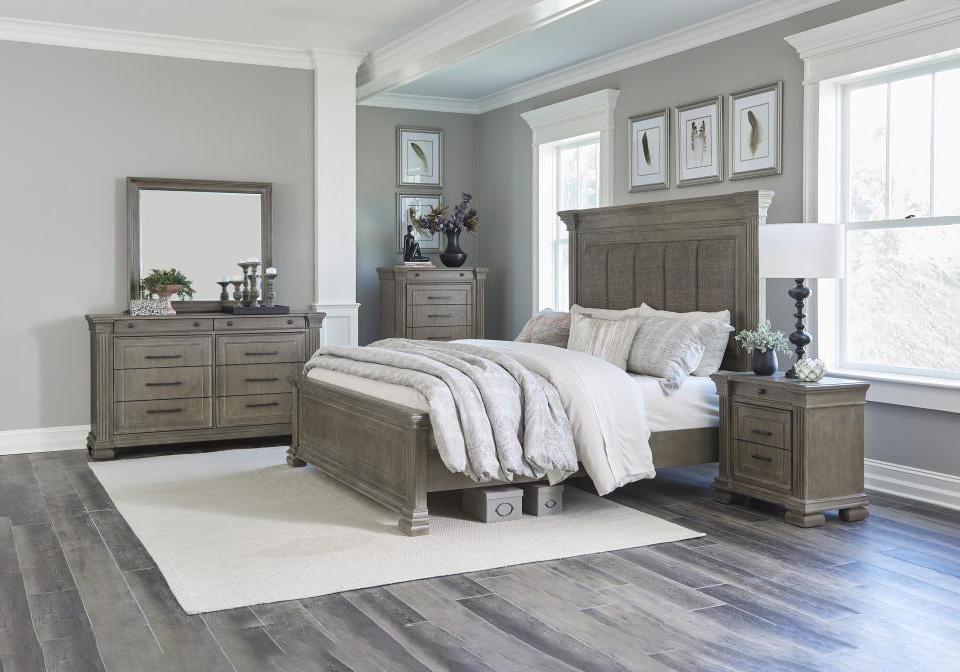 delora gray queen bedroom set  cincinnati overstock warehouse