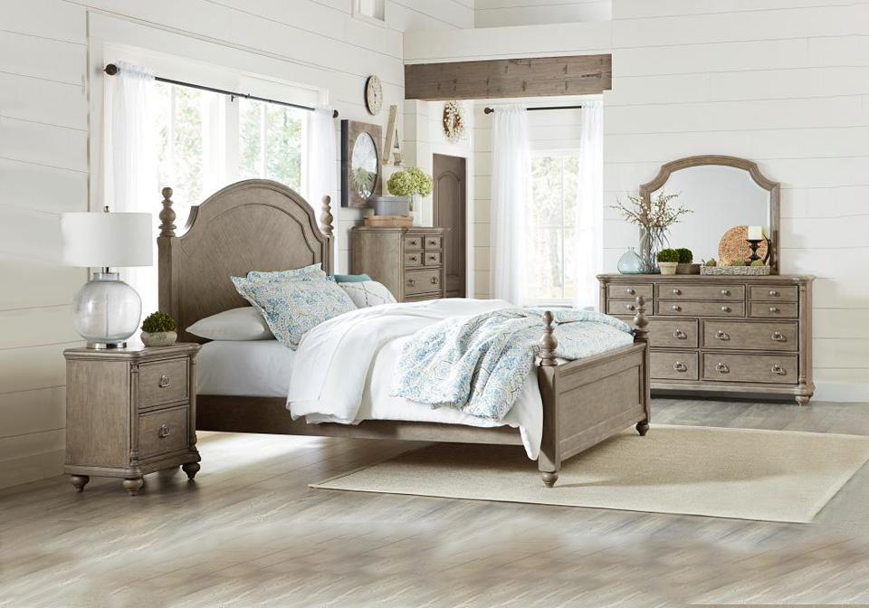 Grayling Downs Light Brown King Poster Bedroom Set