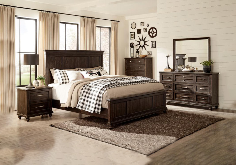 Campbell Brown Queen Bedroom Set Cincinnati Overstock Warehouse