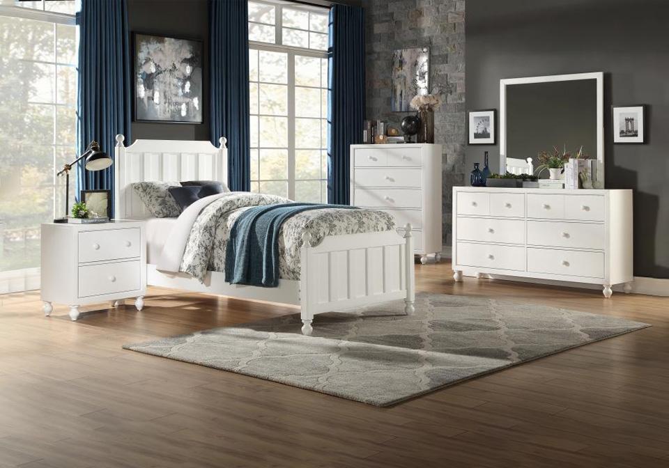 Tinley White Twin Bedroom Set Cincinnati Overstock Warehouse