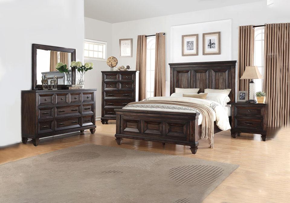 sevilla walnut queen bedroom set  cincinnati overstock
